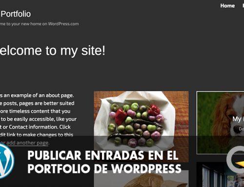 PUBLICAR UNA ENTRADA EN El TEu PORTFOLIO